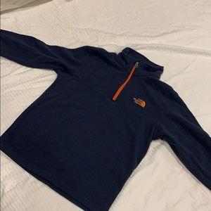 3/4 zip North Face boys navy fleece size 10/12
